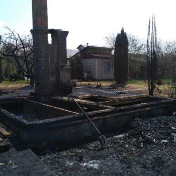 В процессе расчистки после пожара в Чехове