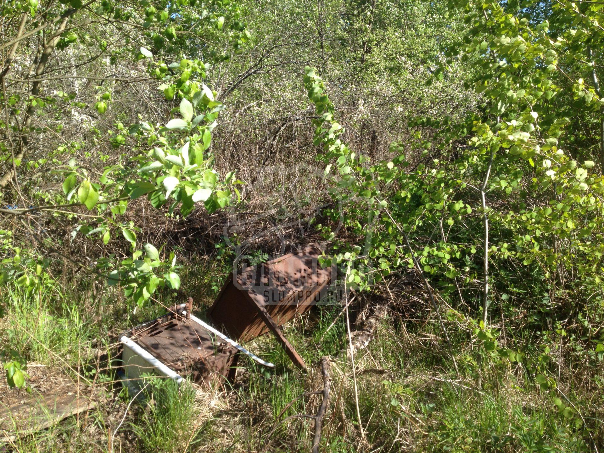 Расчистка участка в Ликино-Дулево от растительности и построек