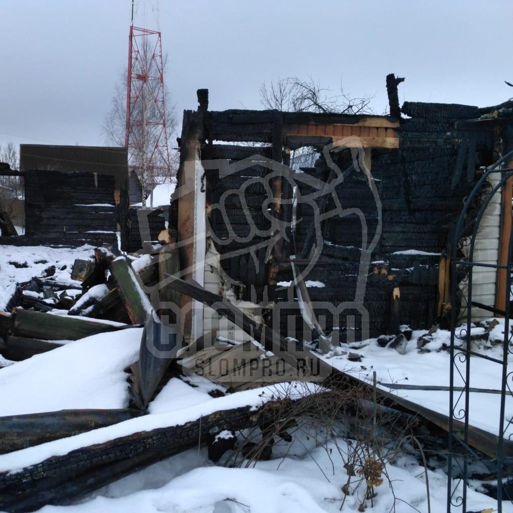 Демонтаж сгоревшего дома в Малино