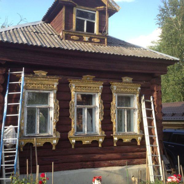 Фото перед началом демонтажа дома из бревна