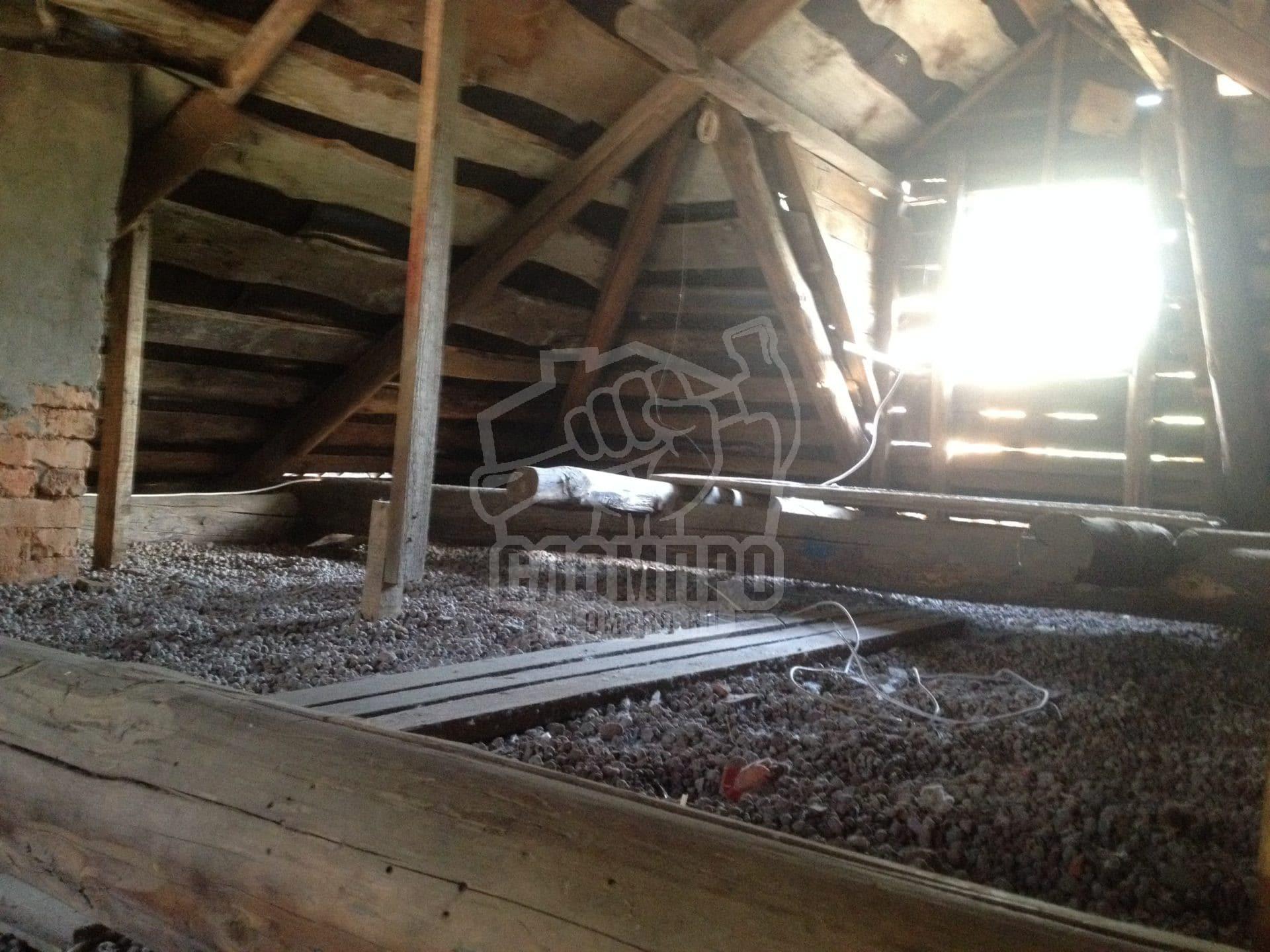 Конструкции холодного чердака бревенчатого дома