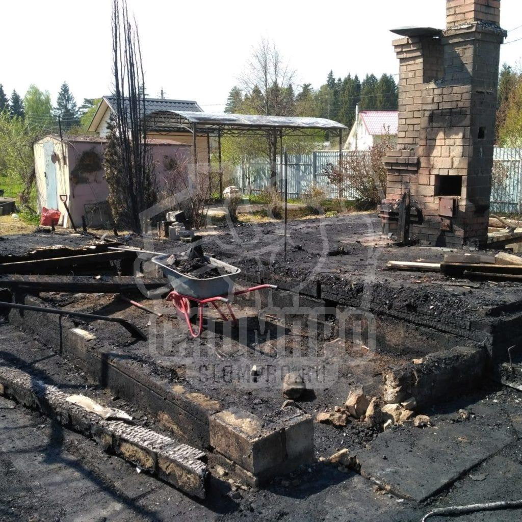 Расчистка после пожара Чеховский район.