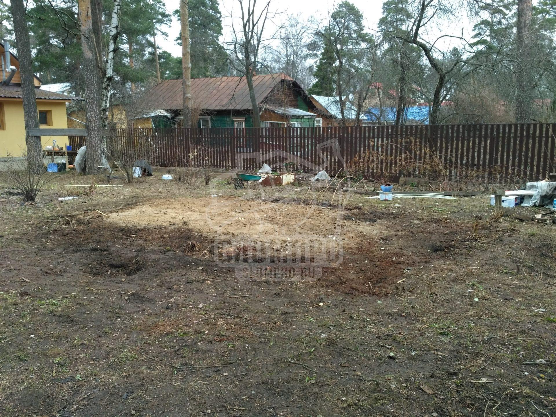 Очищенная территория после проведения работ