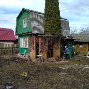 Дачный дом до демонтажных работ