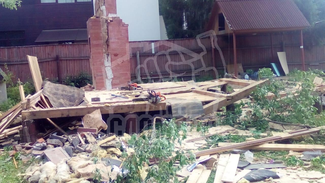 Демонтаж пола первого этажа