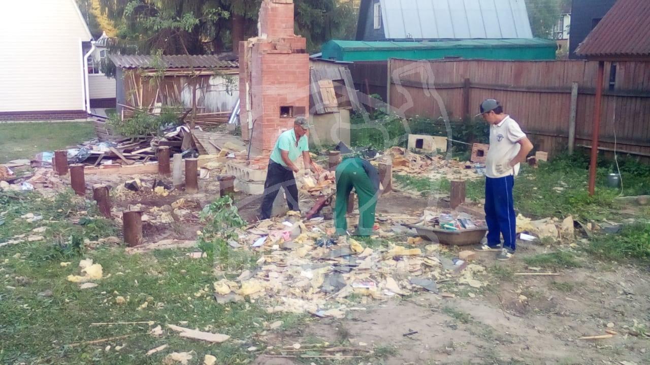 Уборка участка после проведения демонтажа