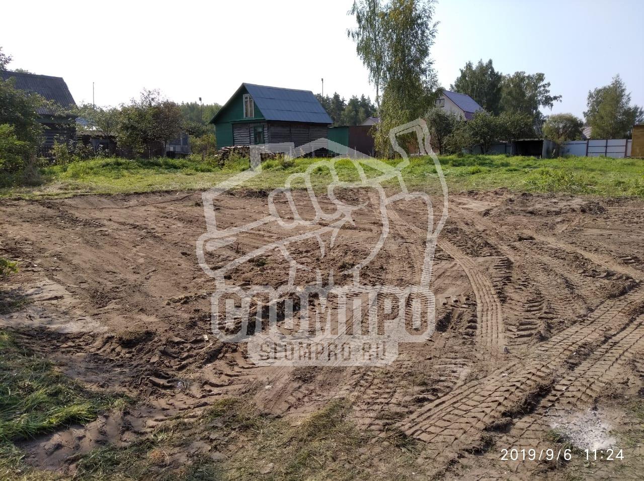 Финальная планировка участка после комплекса демонтажных работ