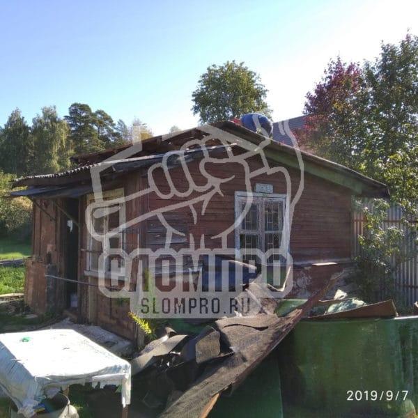 Осмотр садового дома перед демонтажем.