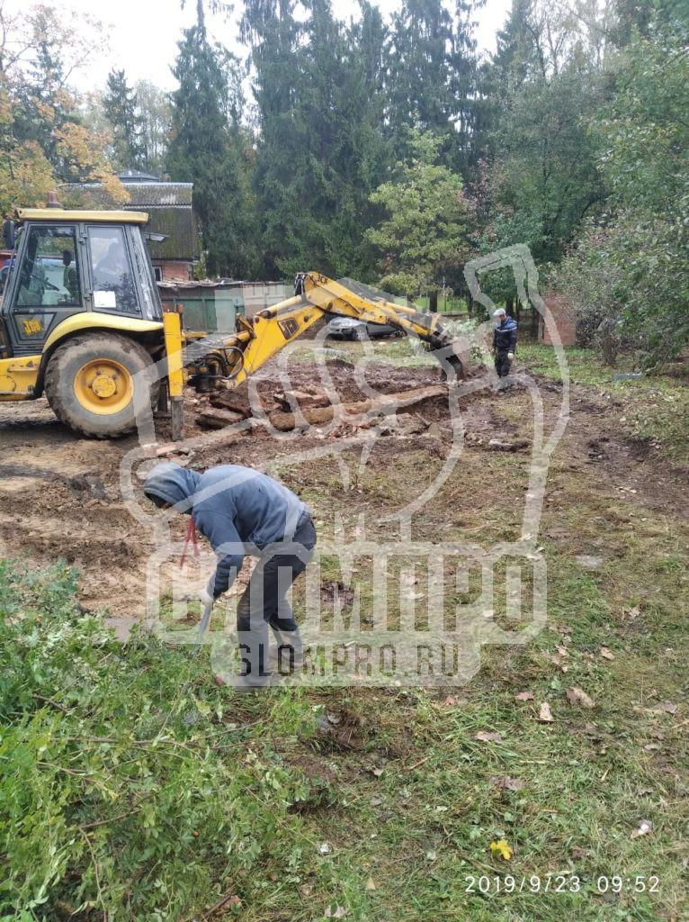 Демонтаж фундамента и зачистка площадки