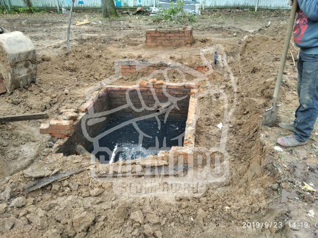 Демонтаж выгребной ямы