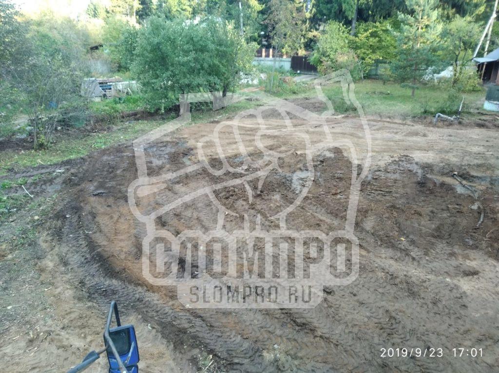 Планировка участка после демонтажа фундамента