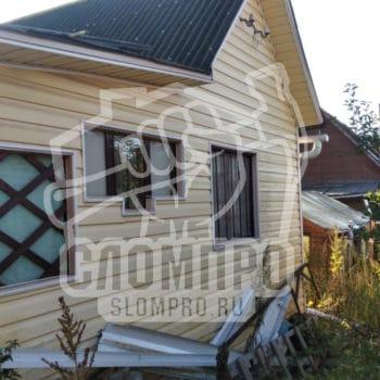 Осмотр садового дома перед демонтажем