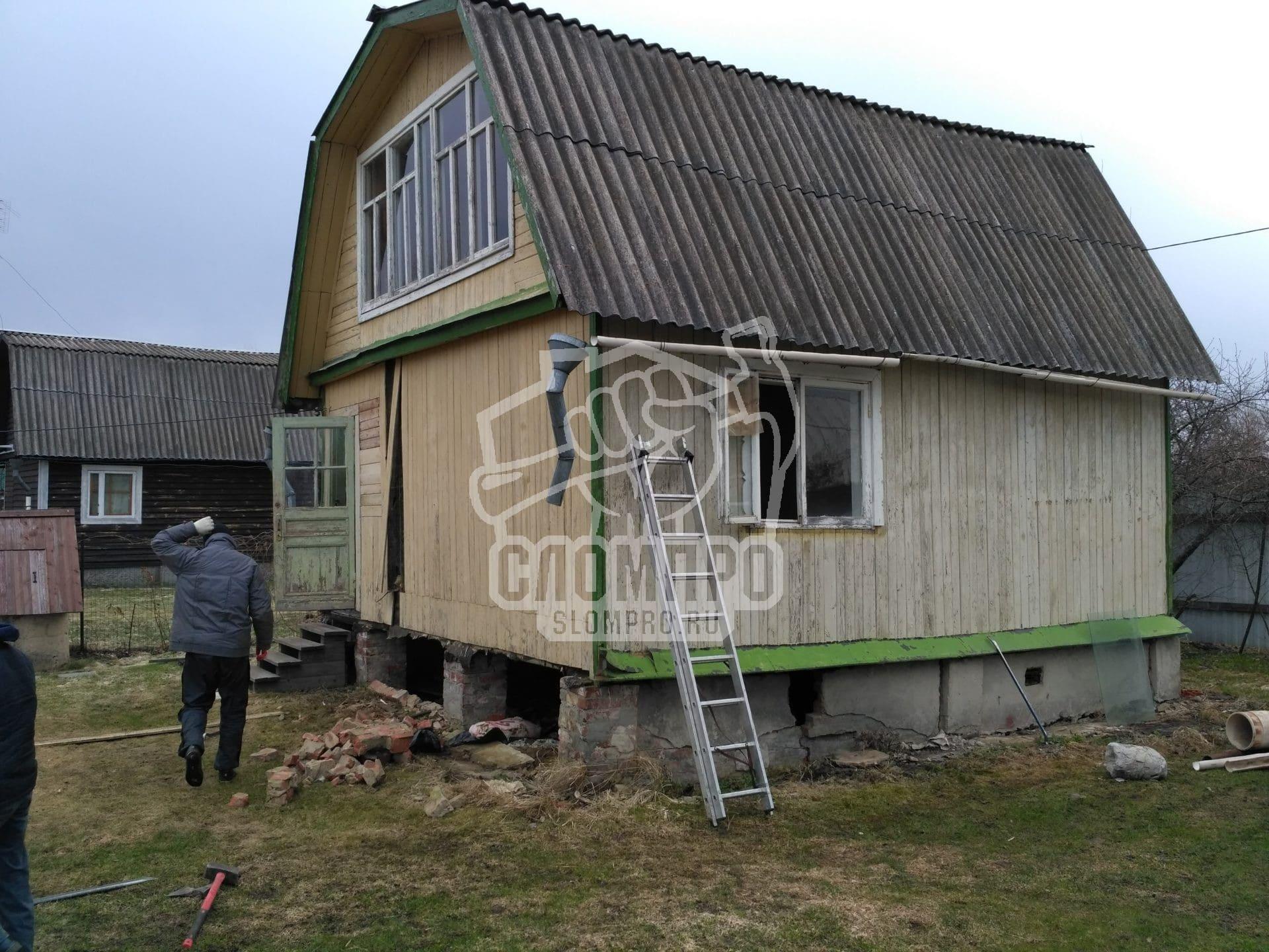 Фото мансардной дачи до демонтажных работ