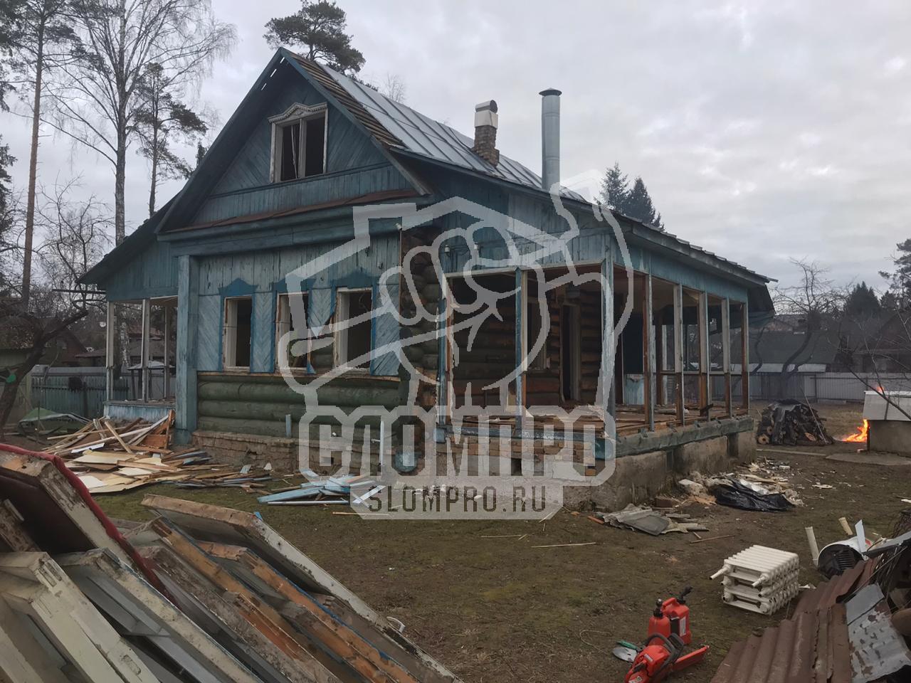 Дом до демонтажа дома из бревна
