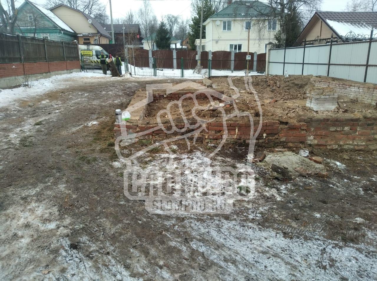 Вид фундамента дома после его демонтажа